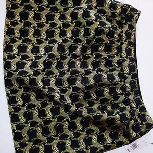 NWT Crown & Ivy Gold Zebra Skirt 16